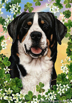 Large Indoor/Outdoor Clover Flag - Greater Swiss Mountain Dog 31144