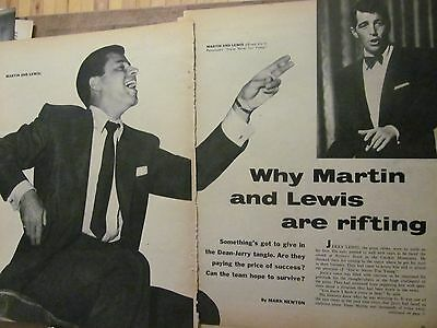 Dean Martin and Jerry Lewis, Four Page Vintage Clipping