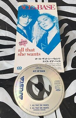 "Ace Of Base - All That She Wants Rare Japan 3"" CD Single"