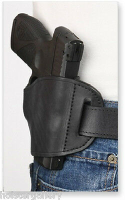 Black Leather Belt Slide Gun Holster for Kimber Ultra Right Hand Draw