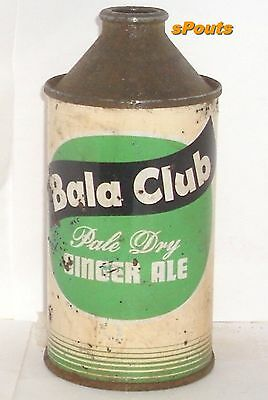 1952 Bala Club Ginger Ale Soda Pop Can Cone Top American Stores Philadelphia,pa