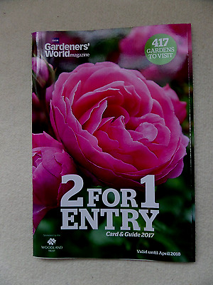 2 For 1 Gardeners World Reusable Entry Card- Valid 2017-Apr 2018 - 417 Gardens!