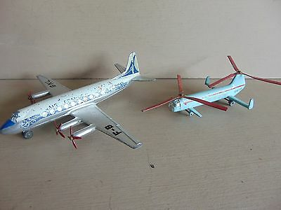 Dinky 706 Viscount + Dinky 715 Bristol 173 Helicopter (Unboxed)