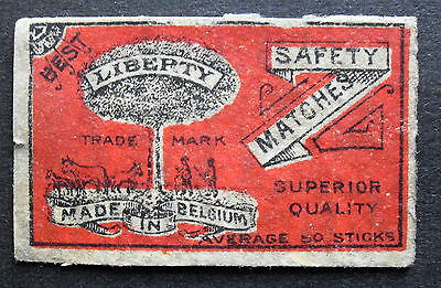 An old Belgian matchbox label, Liberty.