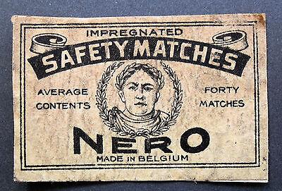 An old Belgian matchbox label, Nero(Average 40).