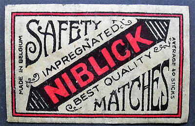 An old Belgian matchbox label, Niblick.