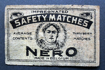 An old Belgian matchbox label, Nero(Average 37).