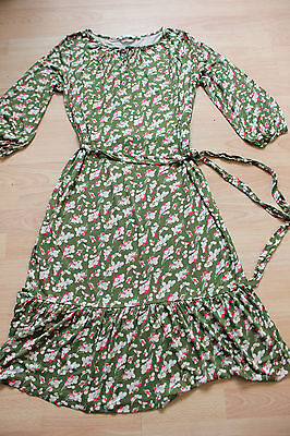 BODEN floral   dress  tie belt   size 14L  NEW
