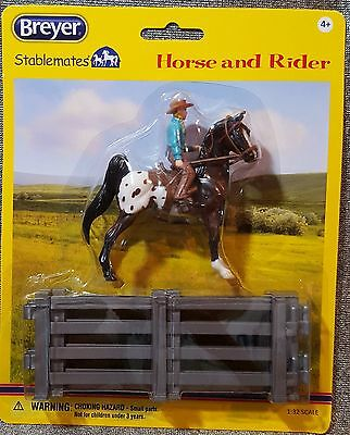 Breyer Stablemates Western Horse and Rider 6200 Authentic New Age 4+