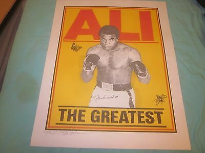 Muhammad Ali The Greatest Autographed 16 X 20 Litho / Print #24 of 90
