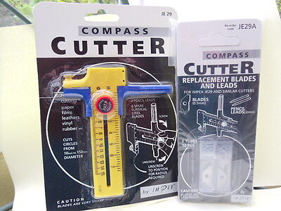 Impex Compass Cutter with Replacement Blades and Leads