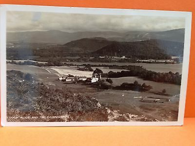 1953 Real Photographic Postcard Loch Alvie And The Cairngorms