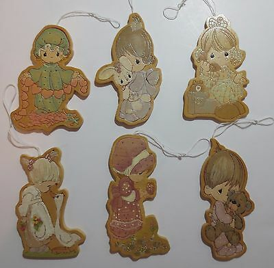Lot Precious Moments Vintage Wooden Ornaments 1993 PMI