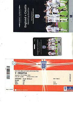 ITINERARY + BADGE + TICKET - ENGLAND v CROATIA