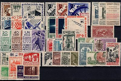 P24596/ Mexique Mexico / Airmail 1939 / 1946 Lot Neuf / Mint 150 €