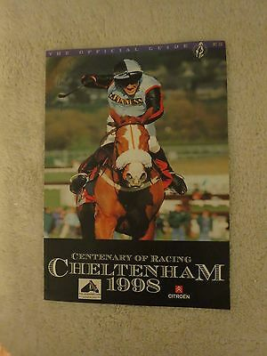 The Official Guide Centenary Of Horse Racing Cheltenham 1998 Booklet