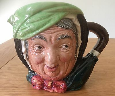 """Extremely Old Large Royal Doulton Toby Jug """"sairey Gamp"""" Immaculate Condition"""