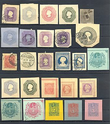 Chile  26  Ps - Cut Outs -  Most Vf