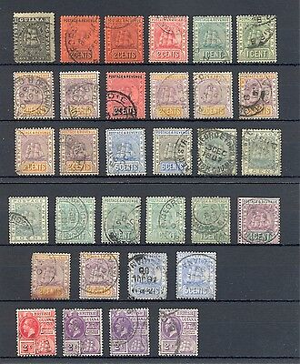 Britsh Guiana  32 St. Used   Mixed Quality