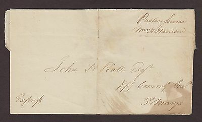William Henry Harrison 1812 (RARE) Signed Public Service Free Frank Cover