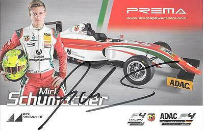 Mick Schumacher original Autogramm - Formel 4 Pilot Prema Power Michael