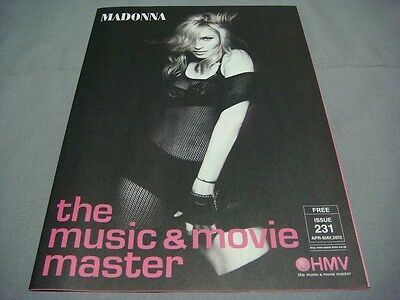 Madonna Cover Hmv Foldout Magazine Issue 231 Apr-May 2012 Mdna