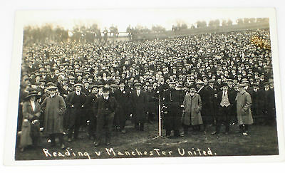 Early Photo Postcard READING v MANCHESTER UNITED Football