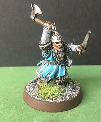 Warhammer Well Painted Dwarf Iron Guard Pose 1 Very Rare  Metal Oop