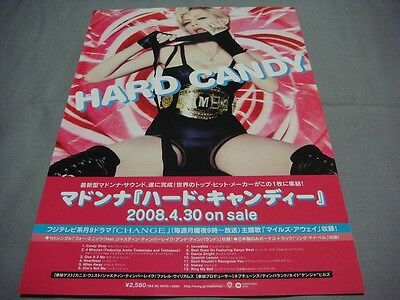 Madonna Hard Candy Japan Album Ad Flyer