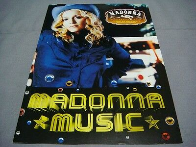 Madonna Music Foldout Ad Flyer Tower Records