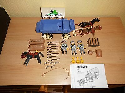 Playmobil 3785 Südstaaten Soldado Soldatesque Soldier Planwagen carriage ACW