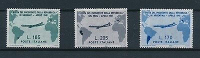 [91341] Italy 1961 Planes good lot Very Fine MNH stamps