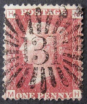 QV 1d red plate 94, with Brunswick star, fine used. Sg.43. 'MH'