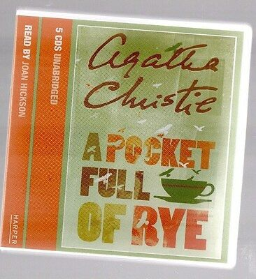Agatha Christie ~A Pocket Full Of Rye~ 5 Cd Audio Boxset* *read By Joan Hickson*