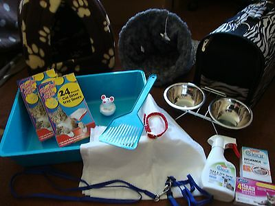 ~Car Boot Bundle For Cats Igloo Bed,carrier,play Sack,litter Tray Set..rrp £75+~