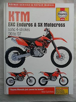 KTM EXC Enduros & SX Motocross sohc 4-strokes '00 to '07 Haynes Manual