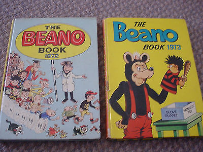 The Beano Book Annual 1972 And 1973 (Two 2 Books)