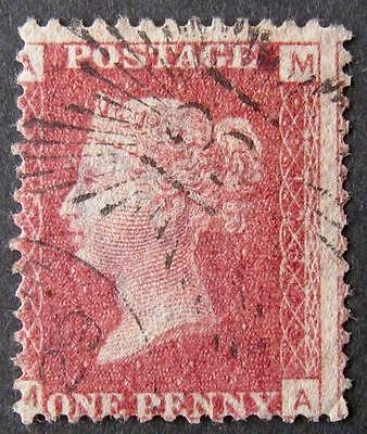 QV 1d red plate 123, with Brunswick star, fine used. Sg.43. 'MA'