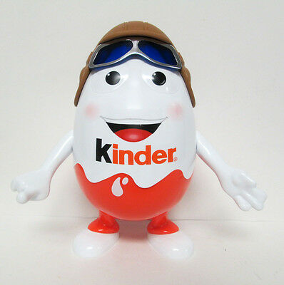 "Kinder Surprise Egg Man Aviator Pilot Large 10"" Figure Empty Container"