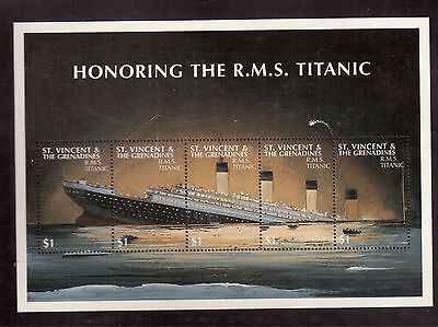 St.vincent & Grenadines 1997 #2500 S/s Mint Nh, Honoring The R.m.s. Titanic !!
