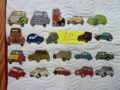 Lot de pins automobile Citroen , 2 CV Citroen