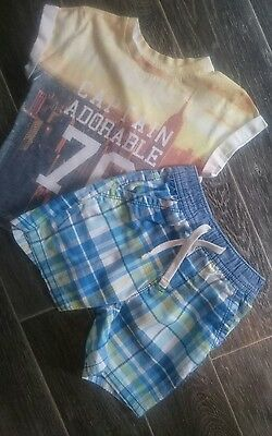 boys shorts and t shirt age 18-24 months NEXT, RIVER ISLAND