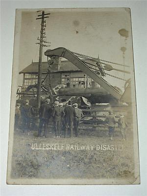 Ulleskelf Railway Disaster 1906, Tadcaster Real Photo Rp Postcard!