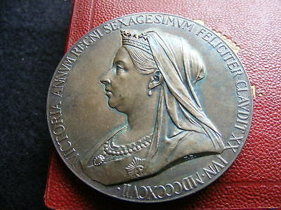 MEDAL, VICTORIA DIAMOND JUBILEE, OFFICIAL, SILVER, LARGE 56MM, 1897 Boxed Lot#2
