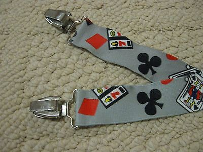 "Men's 1 1/2"" Xl Adjustable  Suspenders/braces Gambling Theme"