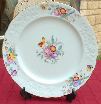 Spode Dinner Plate in the Christine Pattern Y6802 Dated 1948