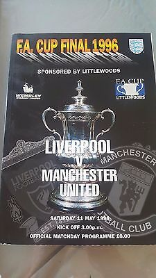 1996 Manchester United v Liverpool FA Cup Final programme