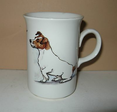 1986 GRAYS TERRIER PRODUCT JACK RUSSELL TERRIER MUG Louise Wood Aldridge England