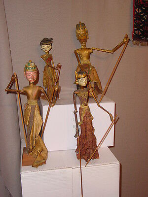 4 Fabulous Antique Refined Beautifull  Indonesian Woodcarved Dolls ****hg***