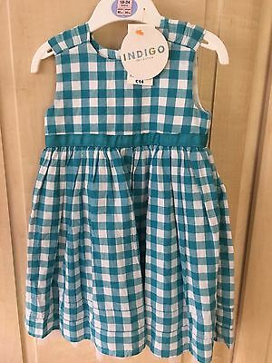 BNWT Toddler Girls M&S Gingham Dress 18-24m